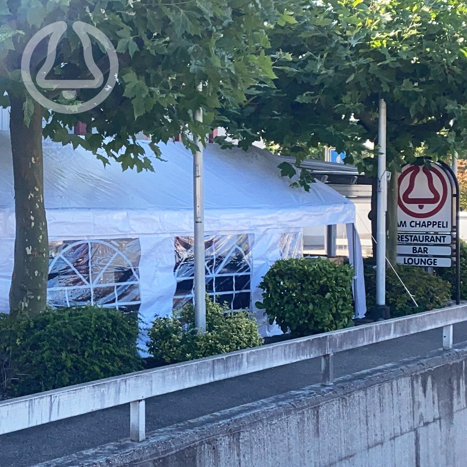 Restaurant am Chappeli - Zelt vor dem Restaurant